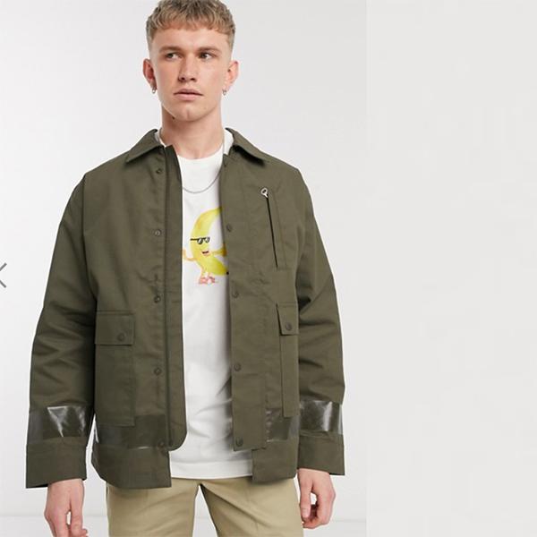 Weekday カーキグリーン メゾン ワーカー 防水 ジャケット メンズ 20代 30代 40代 ファッション コーディネート小さいサイズから大きいサイズまで オシャレ トレンド インポート トレンド