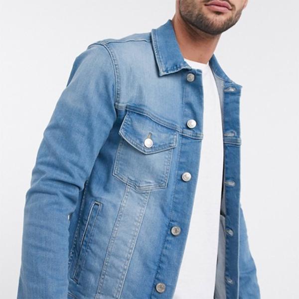 ライトウォッシュ Jack&Jones Intelligence デニム ジャケット メンズ 20代 30代 40代 ファッション コーディネート小さいサイズから大きいサイズまで オシャレ トレンド インポート トレンド