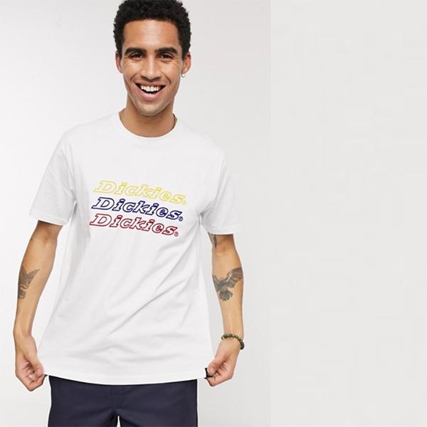 Dickies Kings Bay Tシャツ 白ロゴ メンズ 20代 30代 40代 ファッション コーディネート 小さいサイズから大きいサイズまで オシャレ トレンド インポート トレンド