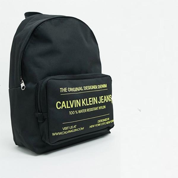 Calvin Klein Jeans Sports Essential テキスト バックパック ブラック 20代 30代 40代 ファッション コーディネート オシャレ カジュアル