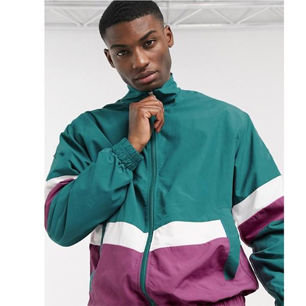 緑色 エスプリ トラックスーツ ジャケット 20代 30代 40代 ファッション コーディネート 小さいサイズから大きいサイズまで オシャレ トレンド インポート トレンド