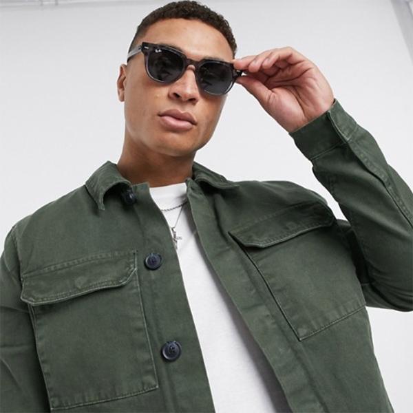 ダークカーキ New Look ユーティリティ ジャケット 20代 30代 40代 ファッション コーディネート 小さいサイズから大きいサイズまで オシャレ トレンド インポート トレンド