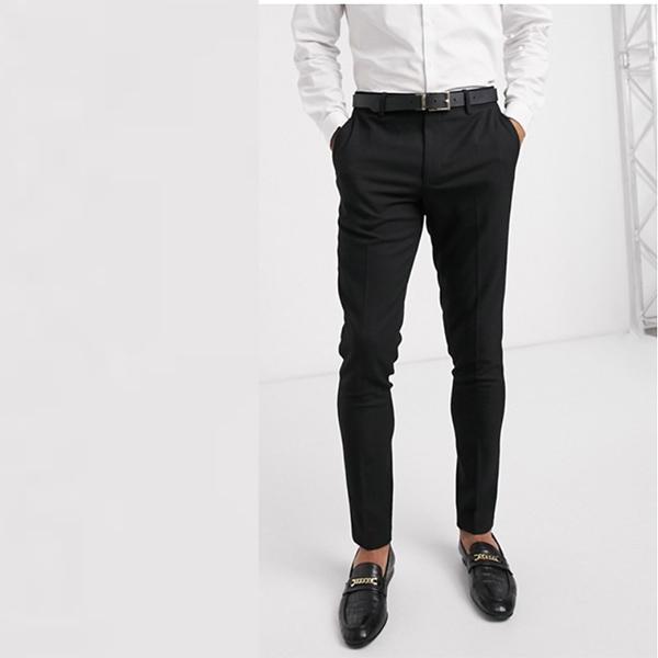 黒 マイクロテクスチャ ASOS DESIGN ウェディング スーパー スキニー スーツ ズボン 20代 30代 40代 ファッション コーディネート 小さいサイズから大きいサイズまで オシャレ トレンド インポート トレンド