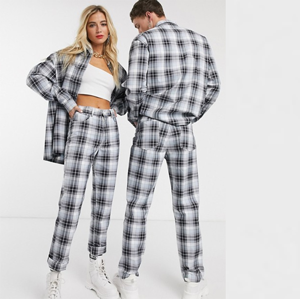 COLLUSION ユニセックス チェック シャツ 20代 30代 40代 ファッション コーディネート 小さいサイズから大きいサイズまで オシャレ トレンド インポート トレンド