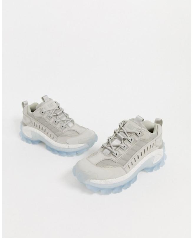 グレー CAT チャンキー 透明 ソール トレーナー 靴 20代 30代 40代 ファッション コーディネート 小さいサイズから大きいサイズまで オシャレ トレンドインポート トレンドbf7gvI6yY