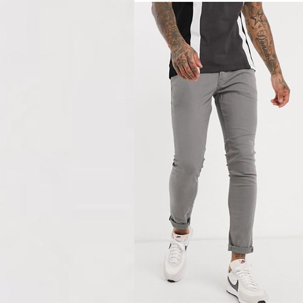 ジャック&ジョーンズ インテリ ジェンス スキニー フィット 5ポケット パンツ(ライトグレー) 20代 30代 40代 ファッション コーディネート 小さいサイズから大きいサイズまで オシャレ トレンド インポート トレンド