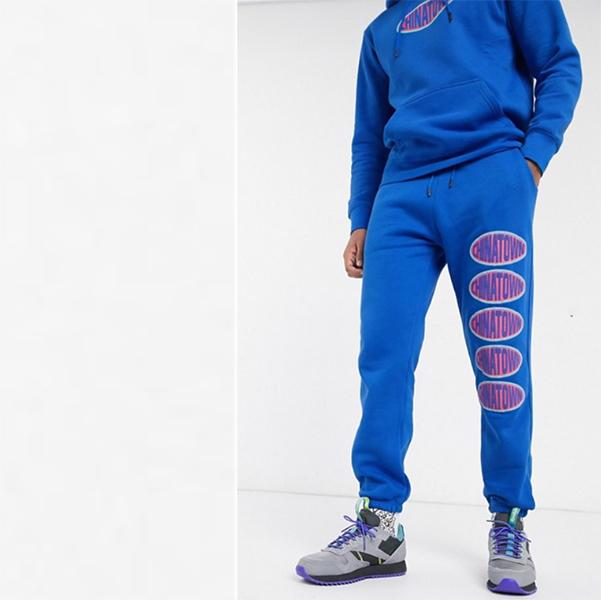 ブルー チャイナタウン マーケット オーバル ロゴ スウェット パンツ 20代 30代 40代 ファッション コーディネート