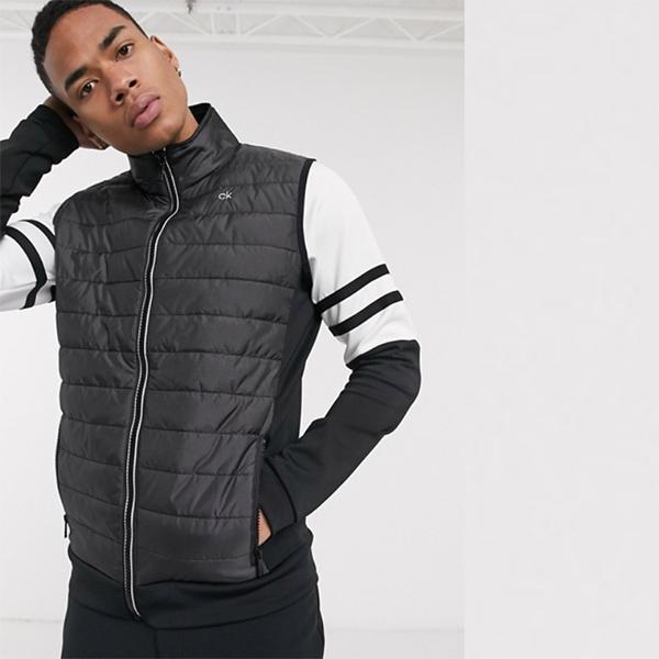 Calvin Klein Golf Hybrid パッド入り ジレ ブラック 20代 30代 40代 ファッション コーディネート 小さいサイズから大きいサイズまで オシャレ トレンド インポート トレンド