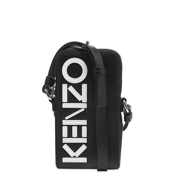 KENZO(ケンゾー) KENZO TIGER レザー LOGO PHONE HOLDER ON STRAP ハイブランド インポート ブランド