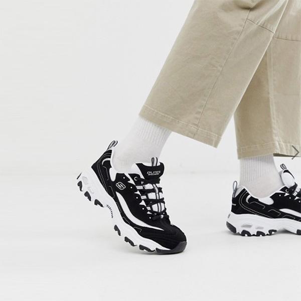 スケッチャーズ SKECHERS ブラックホワイトチャンキートレーナー スニーカー 靴 インポート 大きいサイズ 20代 30代 40代 インポート ブランド