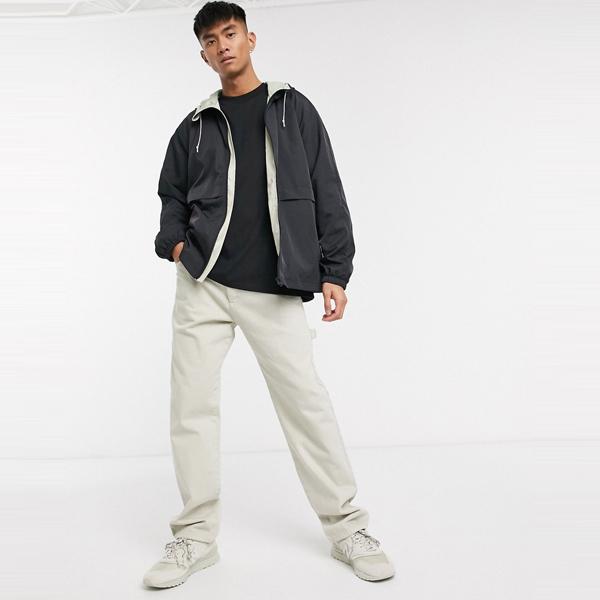 asos ASOS エイソス メンズ ASOS DESIGN コントラスト 石 裏地 ブラック ジャケット ジップ 大きいサイズ インポート エクストリームスーパースキニーフィット スウェットパンツ ジーンズ ジーパン 20代 30代 40代 ファッション コーディネート