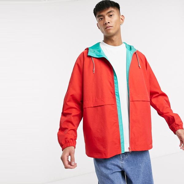 asos ASOS エイソス メンズ ASOS DESIGN コントラスト ティール ライニング レッド ジャケット ジップ 大きいサイズ インポート エクストリームスーパースキニーフィット スウェットパンツ ジーンズ ジーパン 20代 30代 40代 ファッション コーディネート