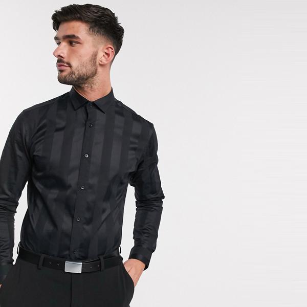 ASOSセレクト Jack & Jones asos ASOS エイソス メンズ Premium ブラック 色調 ストライプ スマート シャツ サテン 大きいサイズ インポート エクストリームスーパースキニーフィット スウェットパンツ ジーンズ ジーパン 20代 30代 40代 ファッション コーディネート