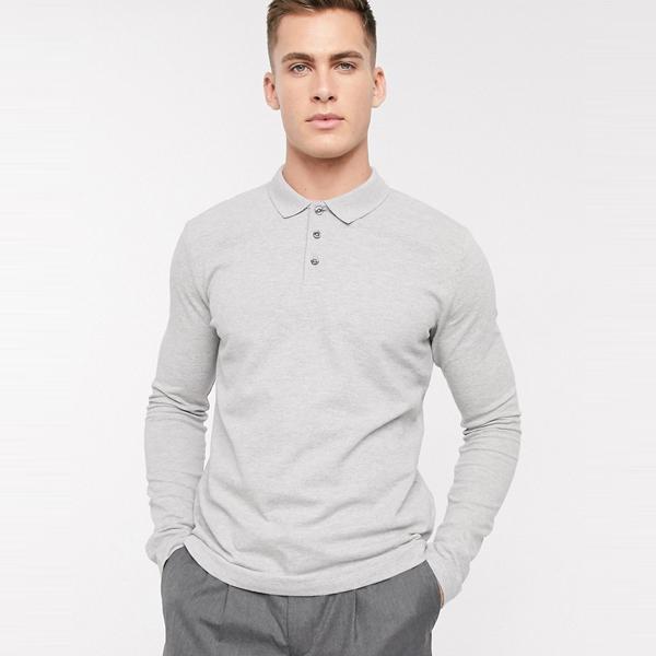asos ASOS エイソス メンズ Selected Homme グレー 長袖 ポロシャツ 大きいサイズ インポート エクストリームスーパースキニーフィット スウェットパンツ ジーンズ ジーパン 20代 30代 40代 ファッション コーディネート