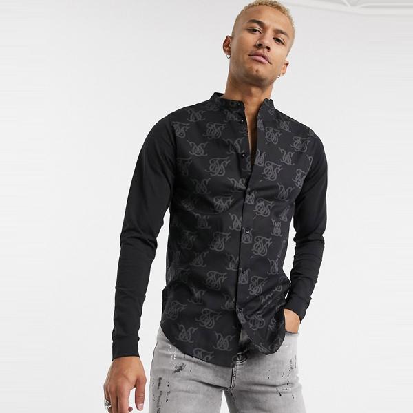 ASOSセレクト SikSilk asos ASOS エイソス メンズ SikSilk すべて 上 ロゴ プリント ジャージ 袖 筋肉 フィット シャツ 大きいサイズ インポート エクストリームスーパースキニーフィット スウェットパンツ ジーンズ ジーパン 20代 30代 40代 ファッション コーディネート