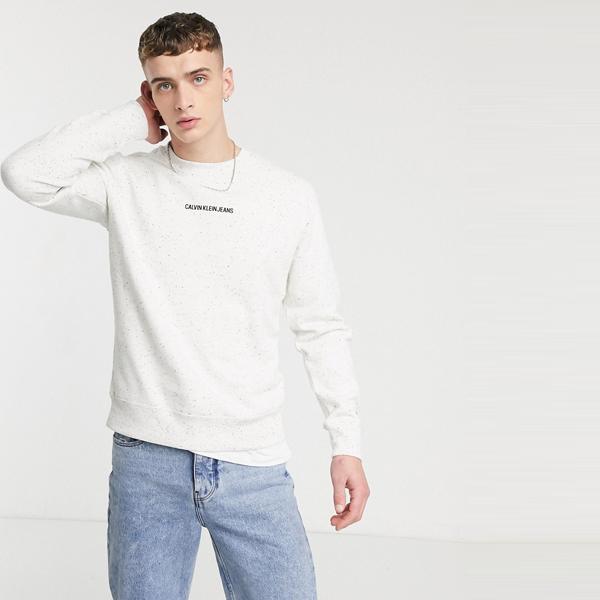 Calvin Klein Jeans カルバンクラインジーンズ メンズ 白 レギュラー フィット クルーネック ジャンパー 大きいサイズ インポート エクストリームスーパースキニーフィット スウェットパンツ ジーンズ ジーパン 20代 30代 40代 ファッション コーディネート