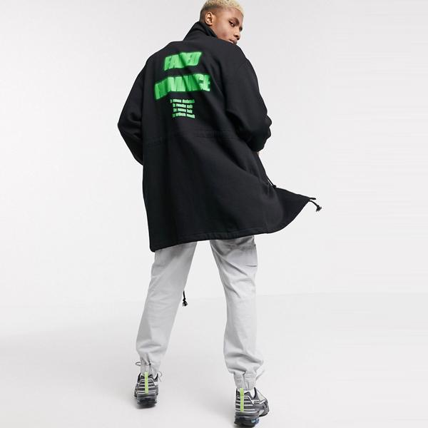 asos ASOS エイソス メンズ ASOS DESIGN バック プリント付き ジャージ パーカー ジャケット 大きいサイズ インポート エクストリームスーパースキニーフィット スウェットパンツ ジーンズ ジーパン 20代 30代 40代 ファッション コーディネート