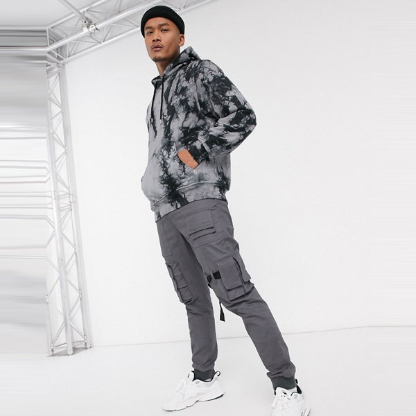ASOSセレクト Nicce asos ASOS エイソス メンズ Nicce ネクタイ ブラック 特大 ロゴ パーカー 染めます 大きいサイズ インポート エクストリームスーパースキニーフィット スウェットパンツ ジーンズ ジーパン 20代 30代 40代 ファッション コーディネート