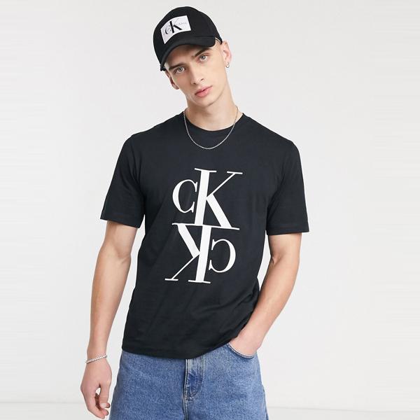 Calvin Klein Jeans カルバンクラインジーンズ メンズ ブラック ミラー モノグラム レギュラー フィット Tシャツ 大きいサイズ インポート エクストリームスーパースキニーフィット スウェットパンツ ジーンズ ジーパン 20代 30代 40代 ファッション コーディネート