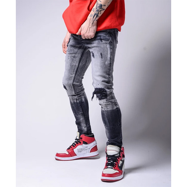 Gentleman To Be(ジェントルマントゥービー) グラデーション ダメージ加工 ジーンズ メンズ 20代 30代 40代 ファッション コーディネート小さいサイズから大きいサイズまで オシャレ トレンド インポート