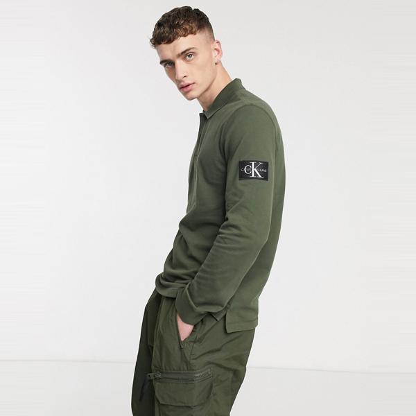 Calvin Klein Jeans カルバンクラインジーンズ メンズ カーキ モノグラム バッジ レギュラー フィット ポロ 大きいサイズ インポート エクストリームスーパースキニーフィット スウェットパンツ ジーンズ ジーパン 20代 30代 40代 ファッション コーディネート