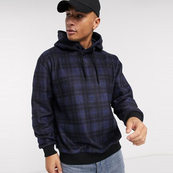 ASOSセレクト Topman asos ASOS エイソス メンズ Topman ネイビーチェック 起毛 フーディ 大きいサイズ インポート エクストリームスーパースキニーフィット スウェットパンツ ジーンズ ジーパン 20代 30代 40代 ファッション コーディネート
