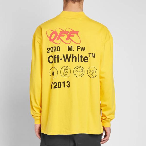OFF-WHITE オフホワイト Off white メンズ トップス オフホワイト インダストリアル Y013 ジップ モックネックティー オシャレ トレンド Tシャツ インポート トレンド【京都のセレクトショップdivacloset】:セレクトショップ Diva Closet