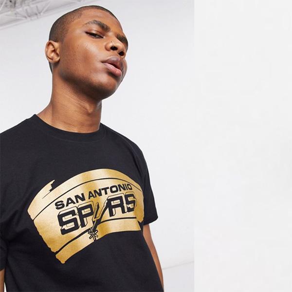 Mitchell&Ness San Antonio Spurs Midas Foil Tシャツ(ブラック)コーディネート 20代 30代 40代 ファッション コーディネート