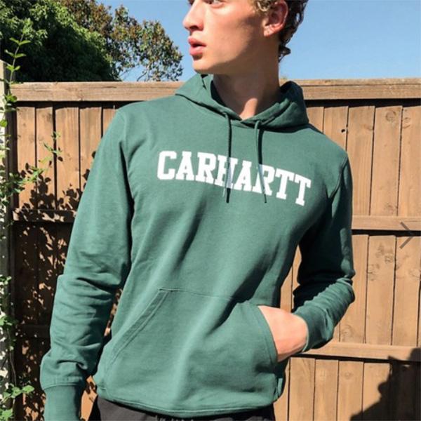 カーハート Carhartt WIP フォレストグリーン カレッジ フーディー コーディネート 20代 30代 40代 ファッション コーディネート