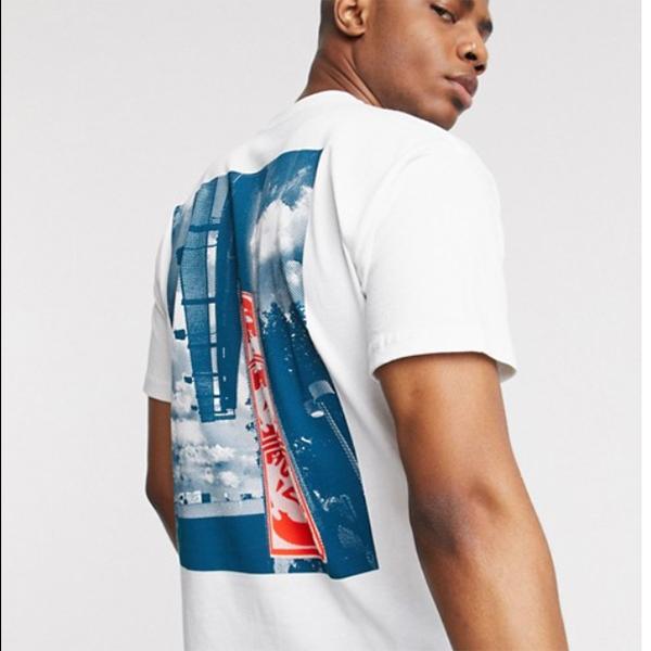 オベイ Obey 3 Face Cloud バックプリント サステナブル Tシャツ ホワイト コーディネート 20代 30代 40代 ファッション コーディネート