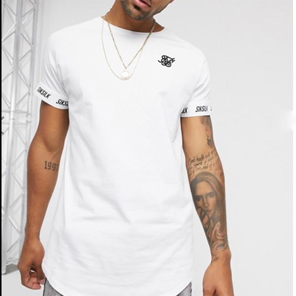 Siksilk 半袖 ラグランテック Tシャツ(ホワイト)コーディネート 20代 30代 40代 ファッション コーディネート