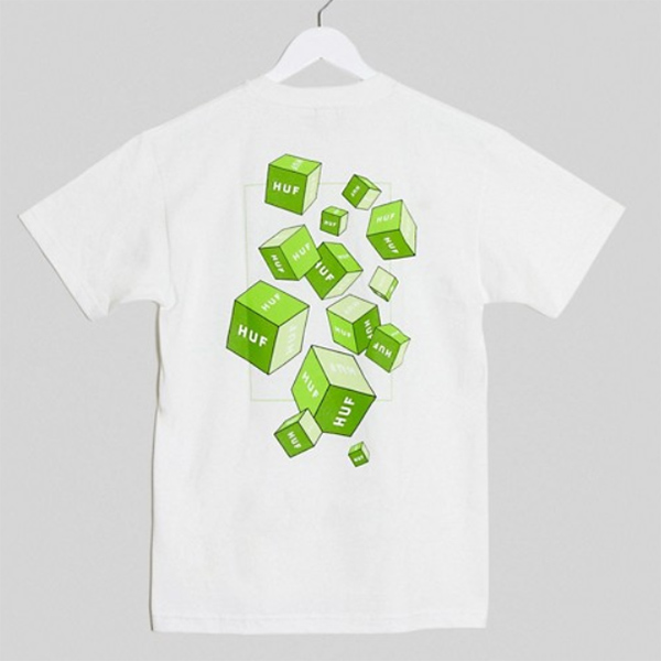 HUF 3D ボックス Tシャツ(ホワイト) コーディネート 20代 30代 40代 ファッション コーディネート