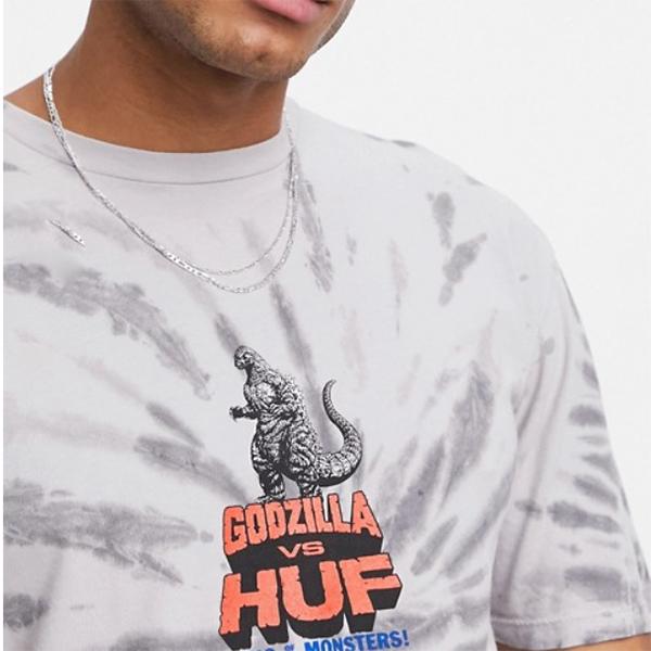 ハフ HUF XゴジラTシャツ(グレー絞り染め)コーディネート 20代 30代 40代 ファッション コーディネート