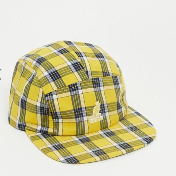 カンゴール Kangol 黄色 チェック柄 野球帽 コーディネート 20代 30代 40代 ファッション コーディネート