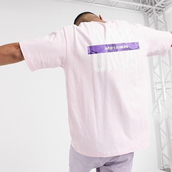 AAPE By A Bathing Ape ロゴ Tシャツ(ピンク)コーディネート 20代 30代 40代 ファッション コーディネート