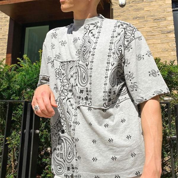 ジェイドロンドン Jaded Londonペイズリー co ord Tシャツ(グレー)コーディネート 20代 30代 40代 ファッション コーディネート