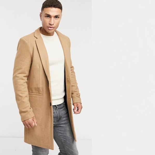 オンリーアンドサンズ Only&Sonsキャメル オーバーコート コーディネート 20代 30代 40代 ファッション コーディネート