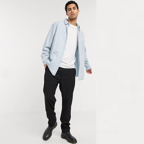 Weekday デニムシャツ ヴィナッジ ブルー 20代 30代 40代 ファッション コーディネート