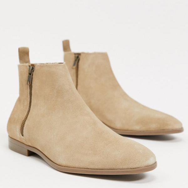 最安値に挑戦 京都のセレクトショップdivacloset エイソス ASOS asos DESIGNチェルシーブーツ ストーンスエード インポートブランド 小さいサイズから大きいサイズまで 男性 靴 ナチュラルソール メンズ 卓抜