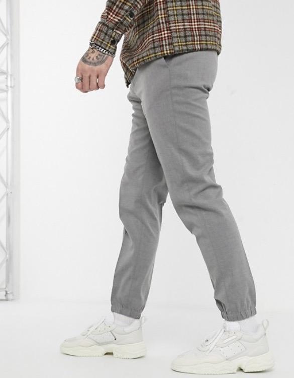 asos ASOS エイソス メンズ ASOS DESIGN スキニーパンツ スマートパンツ ジョガーカフ スキニーフィット パンツ ズボン ボトム 大きいサイズ インポート スウェットパンツ 20代 30代 40代 ファッション コーディネートSzVpUM