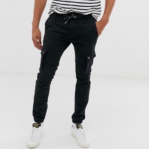 ASOSセレクト Celio メンズ ボトム カーゴパンツ ズボン パンツ カーゴ スリムフィット スリムパンツ スマートパンツ asos エイソス 大きいサイズ インポート 20代 30代 40代 ファッション コーディネート 小さいサイズあり