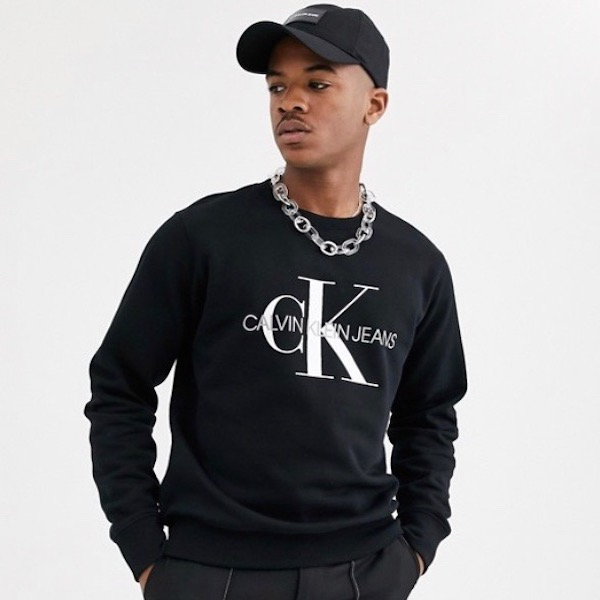 Calvin Klein カルバンクライン Calvin Klein Jeans ブラック モノグラム スウェット トレーナー トレンド インポート 大きいサイズあり 流行 最新 メンズカジュアル 小さいサイズあり