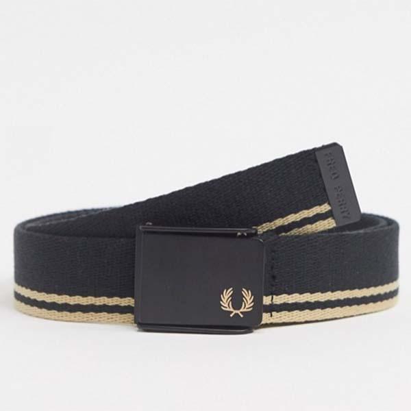 フレッドペリー 黒 ウェビング ベルト 20代 30代 40代 ファッション コーディネート