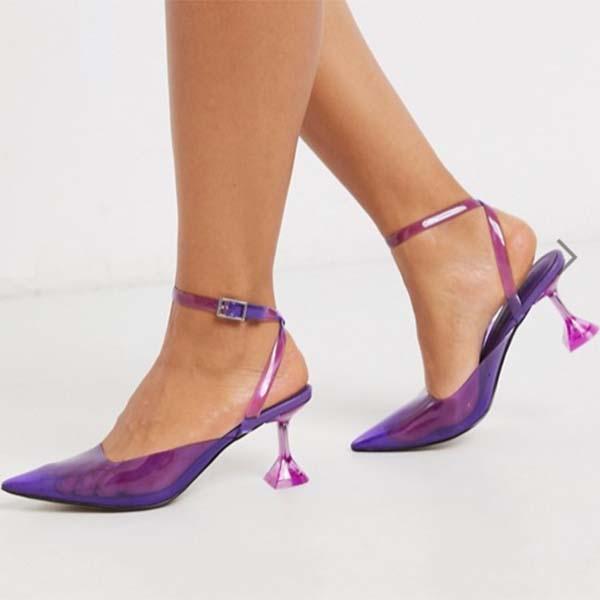 ASOS DESIGN 紫 ピンク スパイス フレア ヒール レディース 女性 20代 30代 40代 diva 大きいサイズあり 小さいサイズあり 高身長