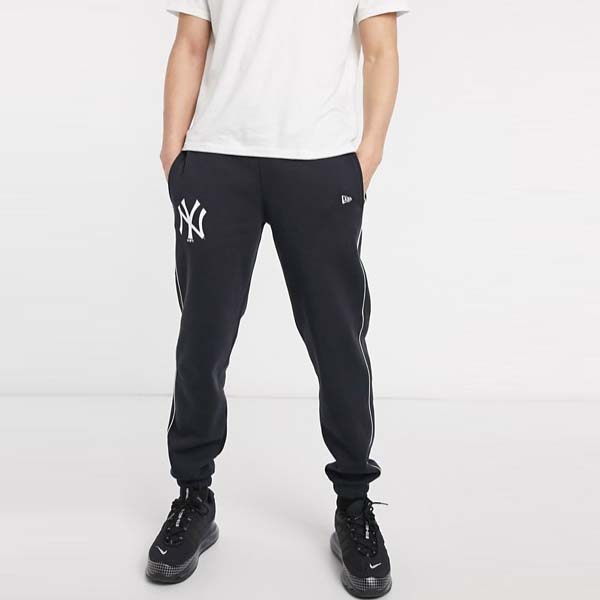 ニューエラ MLB ニューヨーク ヤンキース パイピング ジョガー ネイビー メンズ 男性  20代 30代 40代 diva 大きいサイズあり 小さいサイズあり 高身長