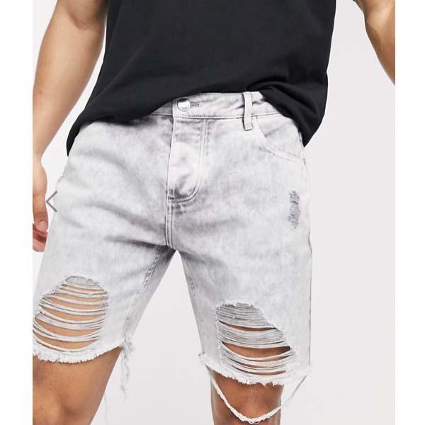 Good For Nothing リップド スーパー ブリーチ デニム ショート メンズ 男性 ショートパンツ 大きいサイズ インポート スウェットパンツ 0代 30代 40代 ファッション コーディネート