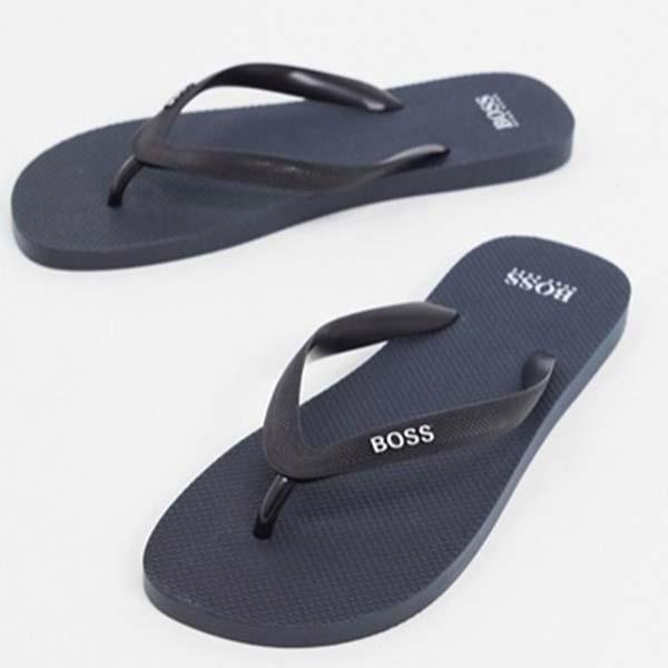 BOSS Pacific ネイビー ビーチサンダル メンズ 男性 小さいサイズから大きいサイズまで 20代 30代 40代 ファッション コーディネート