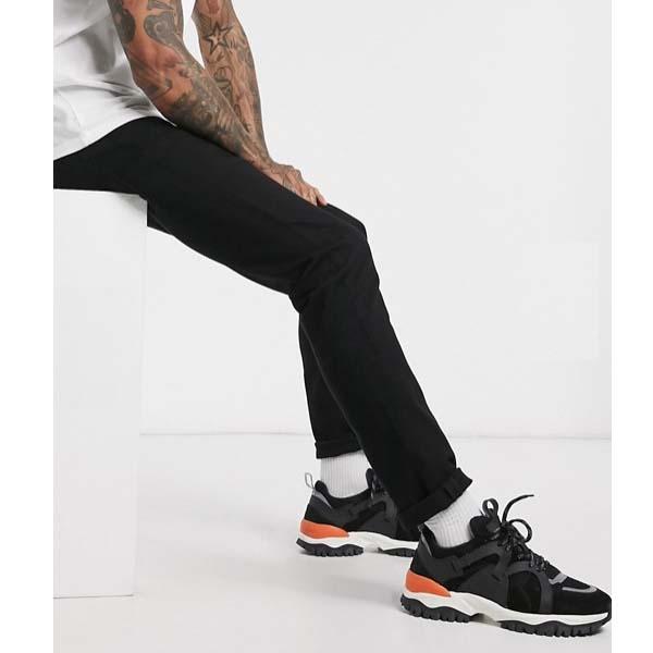 オム スリム フィット オーガニック コットン ジーンズ(ブラックウォッシュ) メンズ 男性 小さいサイズから大きいサイズまで 20代 30代 40代 ファッション コーディネート