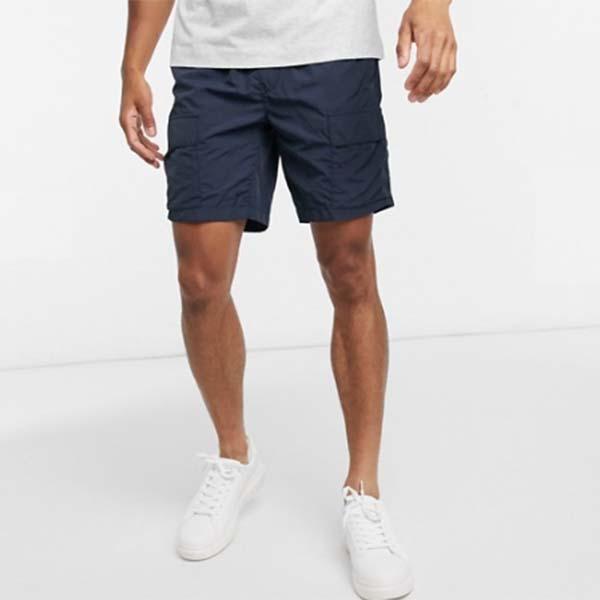 ネイビー ポケット付き オム ナイロン ショーツ パンツ メンズ 男性 小さいサイズから大きいサイズまで 20代 30代 40代 ファッション コーディネート