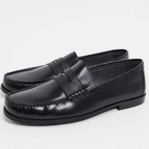 トップマン レザー ローファー(ブラック)靴 メンズ 男性 小さいサイズから大きいサイズまで 20代 30代 40代 ファッション コーディネート